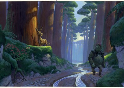Shrek visual development, concept art 1