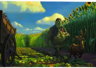 Shrek visual development, concept art 5