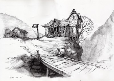Shrek visual development, concept art 12