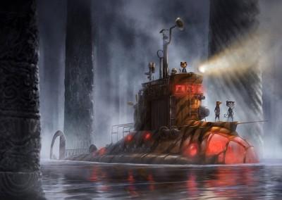 Submarine (Ninja Timmy) h 30 w 40
